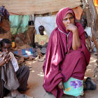 Woman in teashop, Somaliland